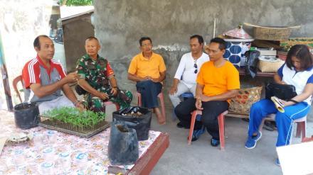 Kegiatan Pembinaan Lomba Rumah Contoh Pangan Lestari Desa Bubunan